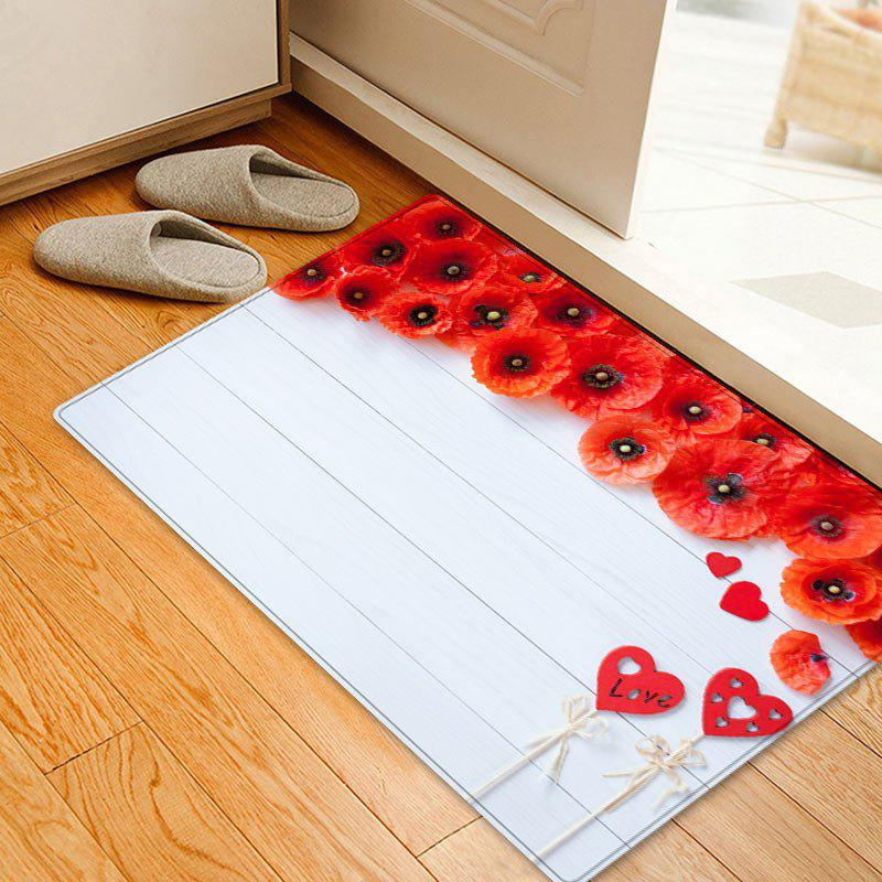 Nonslip Wood Love Heart Flower Print Area Rug платье sweewe sweewe sw007ewrql56