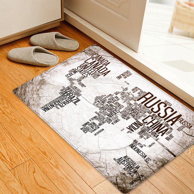 2018 classic world map in english print floor rug white w inch l classic world map in english print floor rug white w20 inch l315 gumiabroncs Image collections
