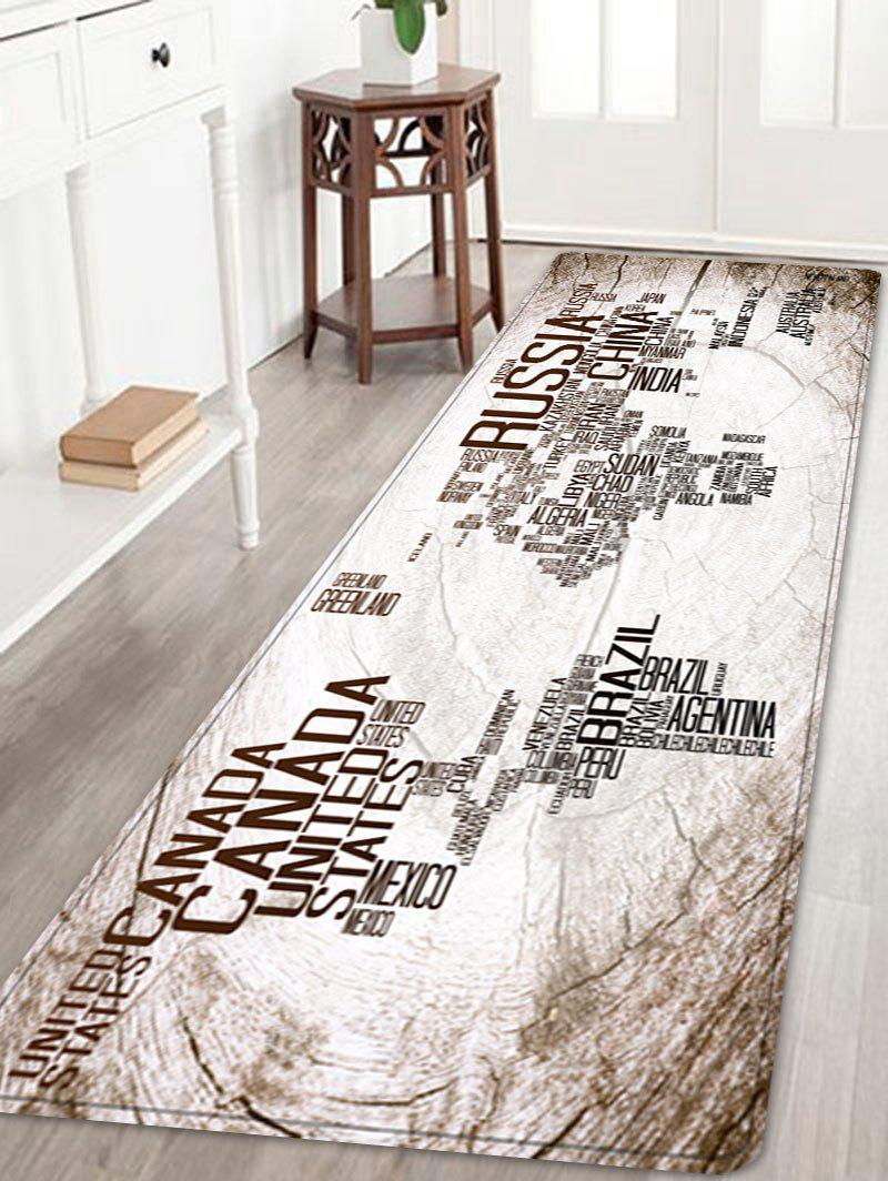 2018 classic world map in english print floor rug white w inch l classic world map in english print floor rug white w24 inch l71 inch gumiabroncs Gallery