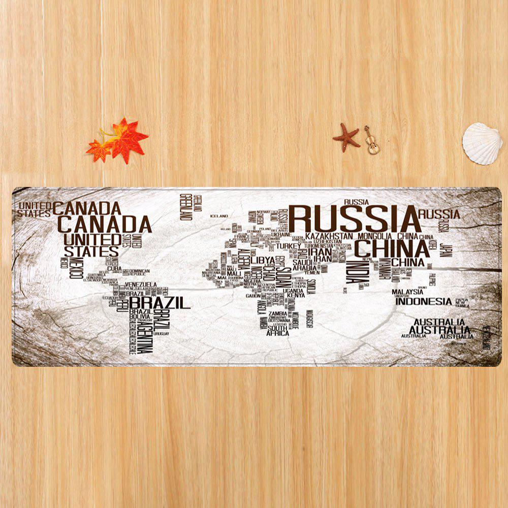 2018 classic world map in english print floor rug white w inch l classic world map in english print floor rug white w16 inch l47 inch gumiabroncs Choice Image