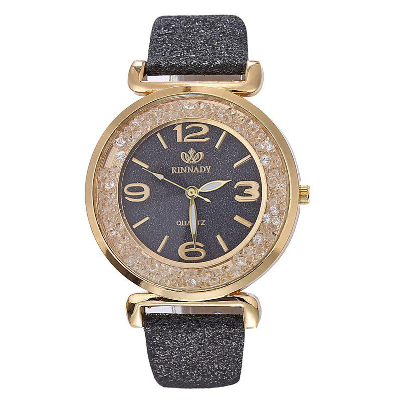 Glitter Powder Faux Leather Watch faux leather glitter ombre watch