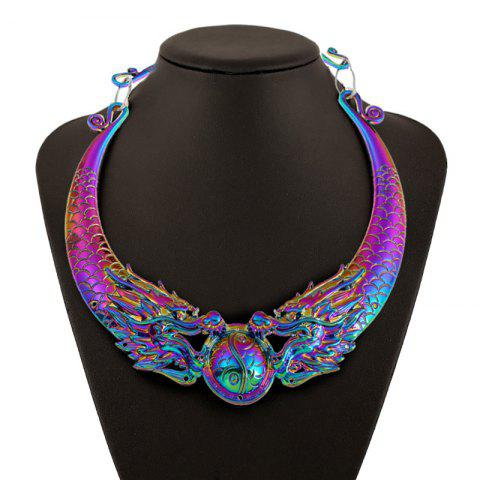 Dragon Design Metal Necklace - COLORMIX