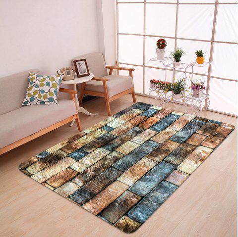Brick Wall Pattern Floor Area Rug - COLORMIX W47 INCH * L63 INCH
