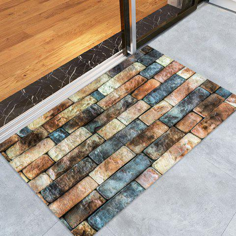 Brick Wall Pattern Floor Area Rug - COLORMIX W16 INCH * L24 INCH