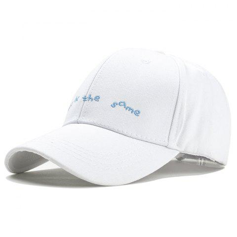 Unique Don  't être le même motif Baseball Embroidery Cap - Blanc