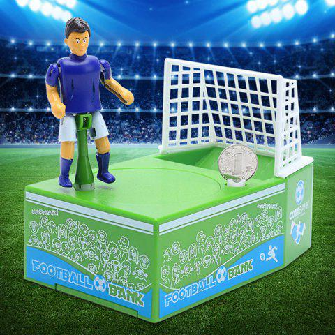 Football Coin Bank Soccer Field Electronic Saving Pot - GREEN