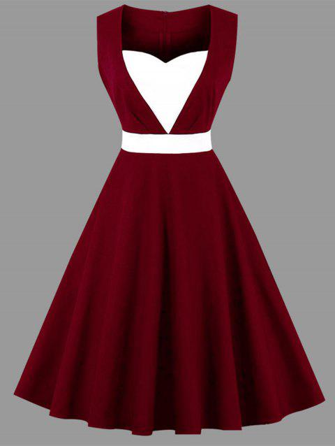 a376b7e7e7653 LIMITED OFFER  2019 Plus Size Vintage Sweetheart Dress In WINE RED ...
