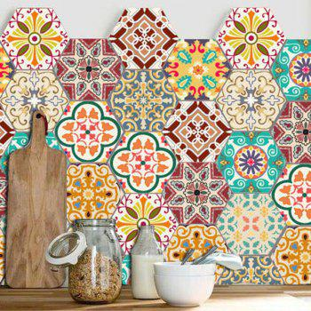 10PCS Hexagon Antislip Wall Decals -  COLORFUL