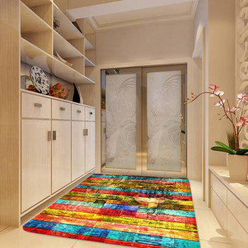 Colorful Woodgrain Pattern Non-skip Indoor Outdoor Area Rug - COLORFUL W47 INCH * L63 INCH