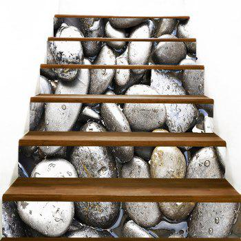 Cobblestones Printed Decorative Stair Decals - GRAY 100*18CM*6PCS