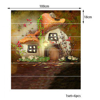 Mushroom House Pattern Stair Stickers - COLORFUL 100*18CM*6PCS