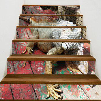 Lizard Printed Decorative Stair Stickers - COLORFUL 100*18CM*6PCS