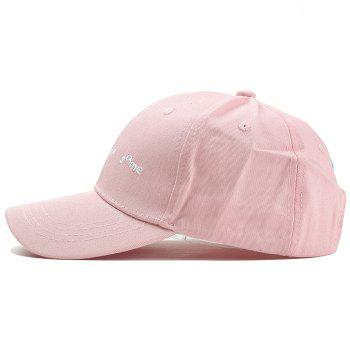 Unique Don't Be the Same Pattern Embroidery Baseball Cap - PINK