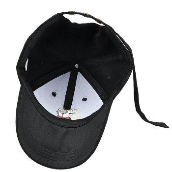 Cartoon Tied Hand Pattern Adjustable Baseball Cap - BLACK