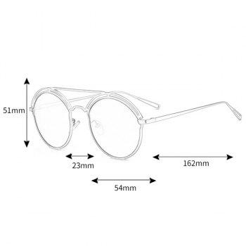 Unique Metal Ful Frame Hollow Out Oval Sunglasses - PINK FRAME/PINK LENS