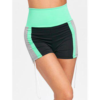 Side String High Waist Yoga Shorts - COLORMIX M