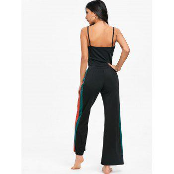 Cami Top With High Rise Palazzo Pants - BLACK L