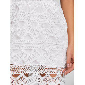 Convertible Low Cut Backless Mini Party Dress - WHITE XL