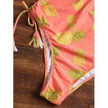 Pineapple Halter High Leg One Piece Swimsuit - JACINTH L