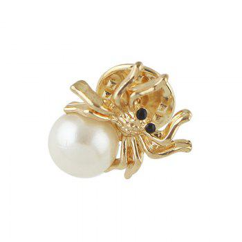 Metal Spider Shape Brooch - GOLDEN