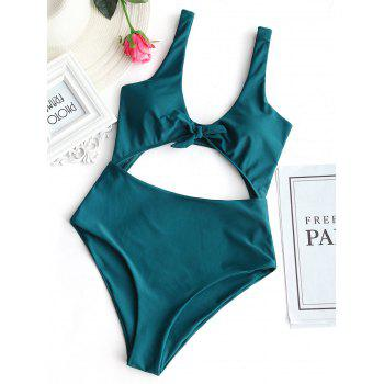 High Rise Cut Out Front Tied Swimwear