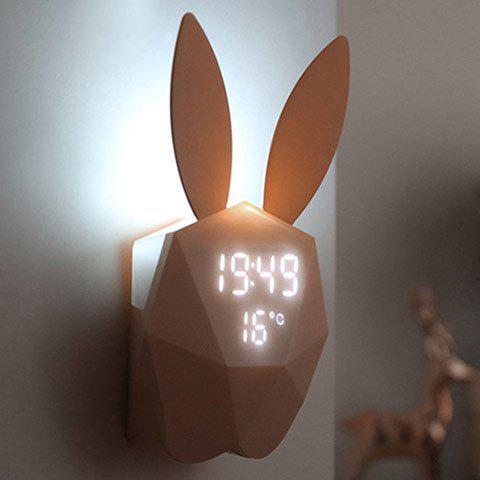 Portable Strong Magnetic Adsorption Rabbit Alarm Clock - PINK 12.6*5*21.3CM