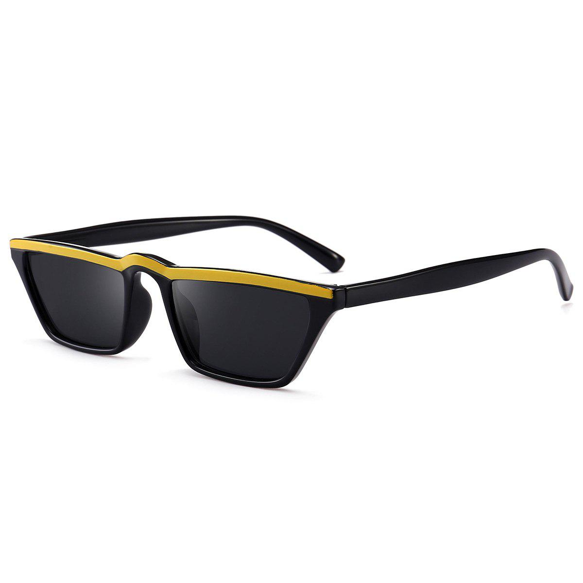Narrow Frame Cat Eye Sunglasses - YELLOW
