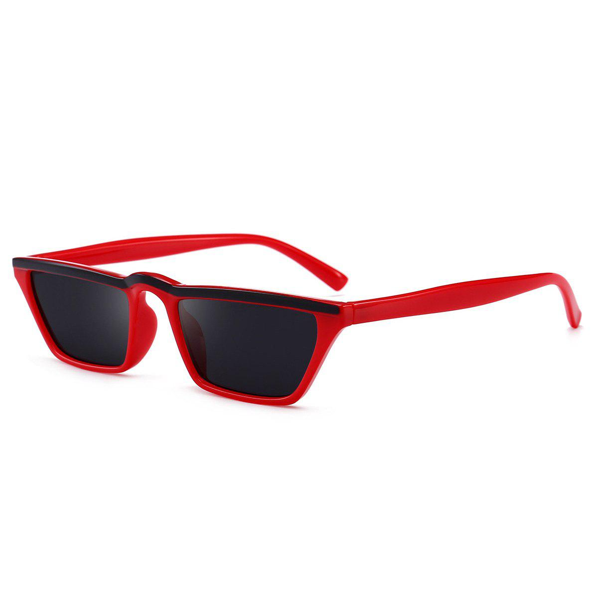 Narrow Frame Cat Eye Sunglasses - RED