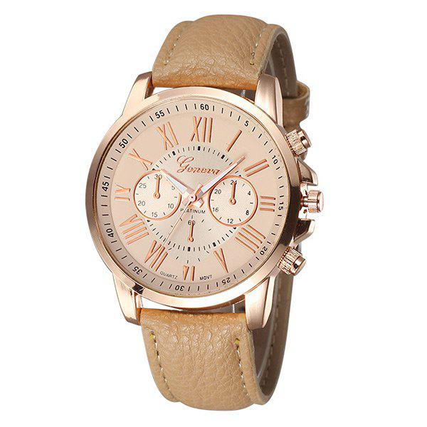 Faux Leather Strap Roman Numeral Watch floral bird roman numeral faux leather watch