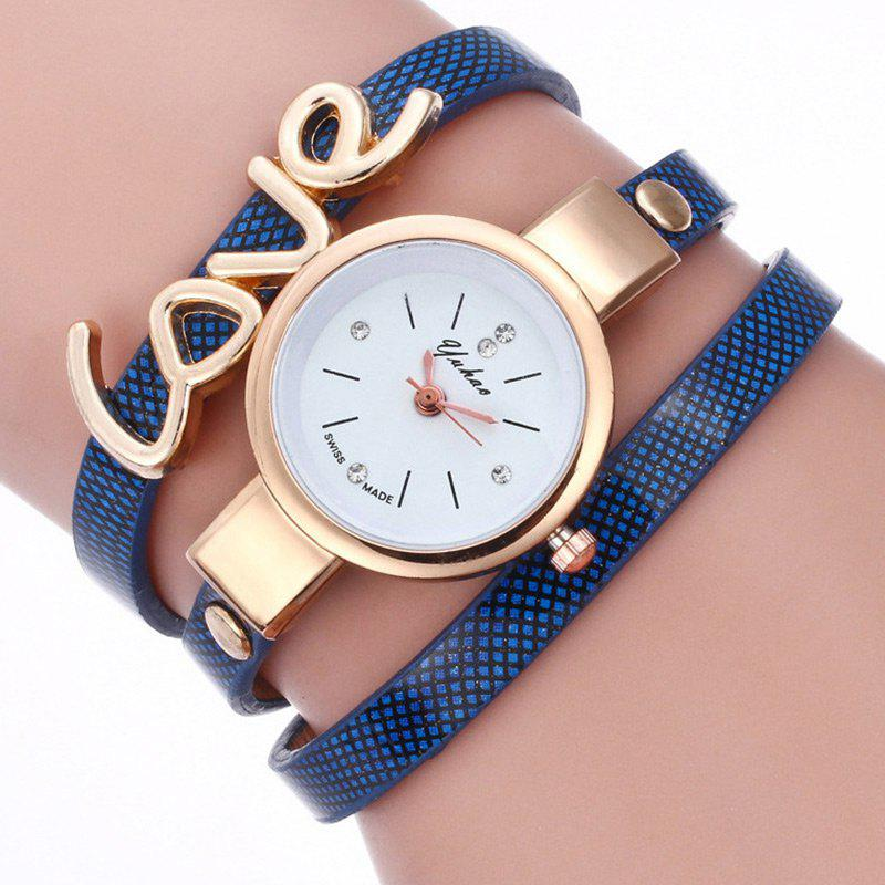 Montre-Bracelet avec Inscription Love - Royal