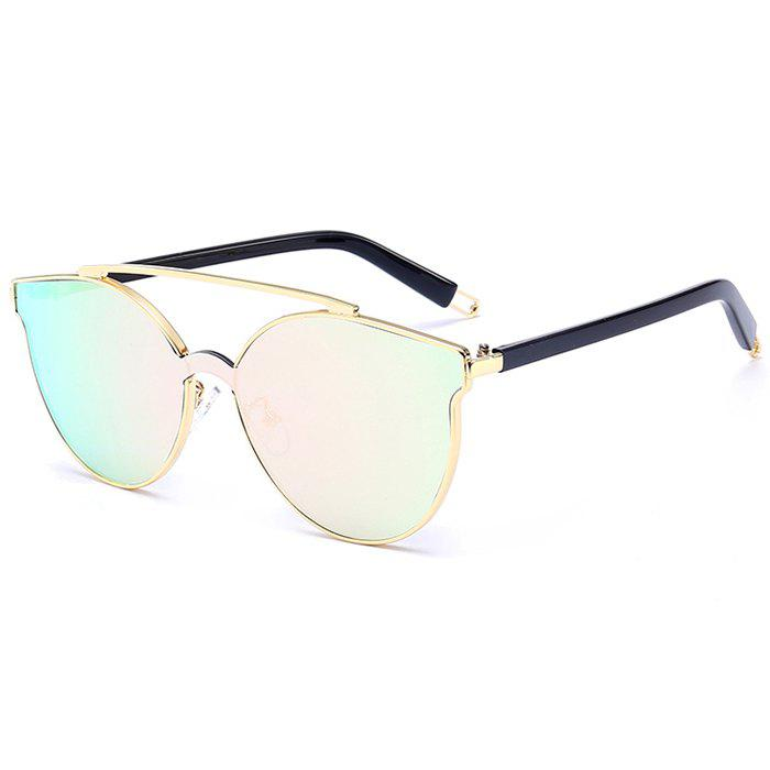Anti-fatigue Crossbar Decorated Cat Eye Sunglasses - PINK