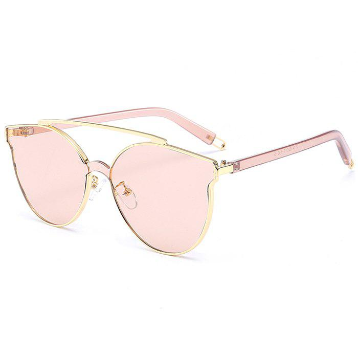 Anti-fatigue Crossbar Decorated Cat Eye Sunglasses - DEEP PINK