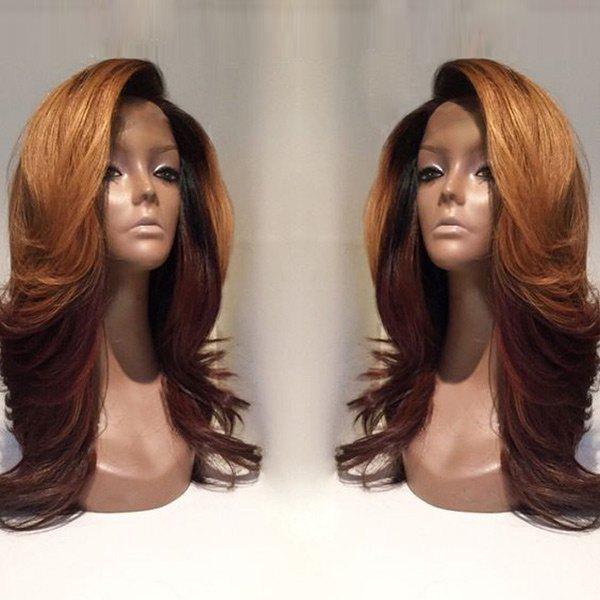 Deep Side Parting Long Colormix Wavy Synthetic Wig - COLORMIX