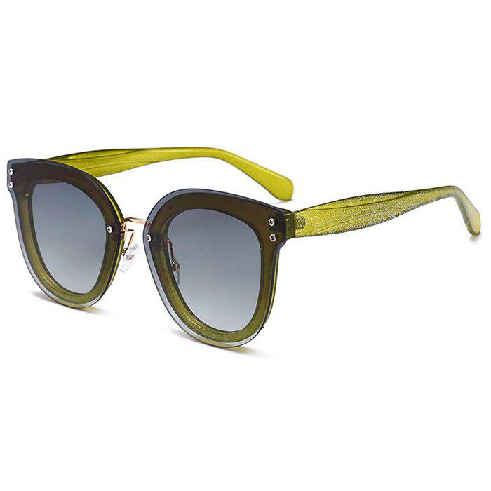 Anti-fatigue Full Frame Nose Pad Sunglasses - GREEN