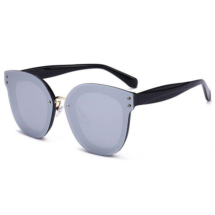 Anti-fatigue Full Frame Nose Pad Sunglasses - BLACK/MERCURY