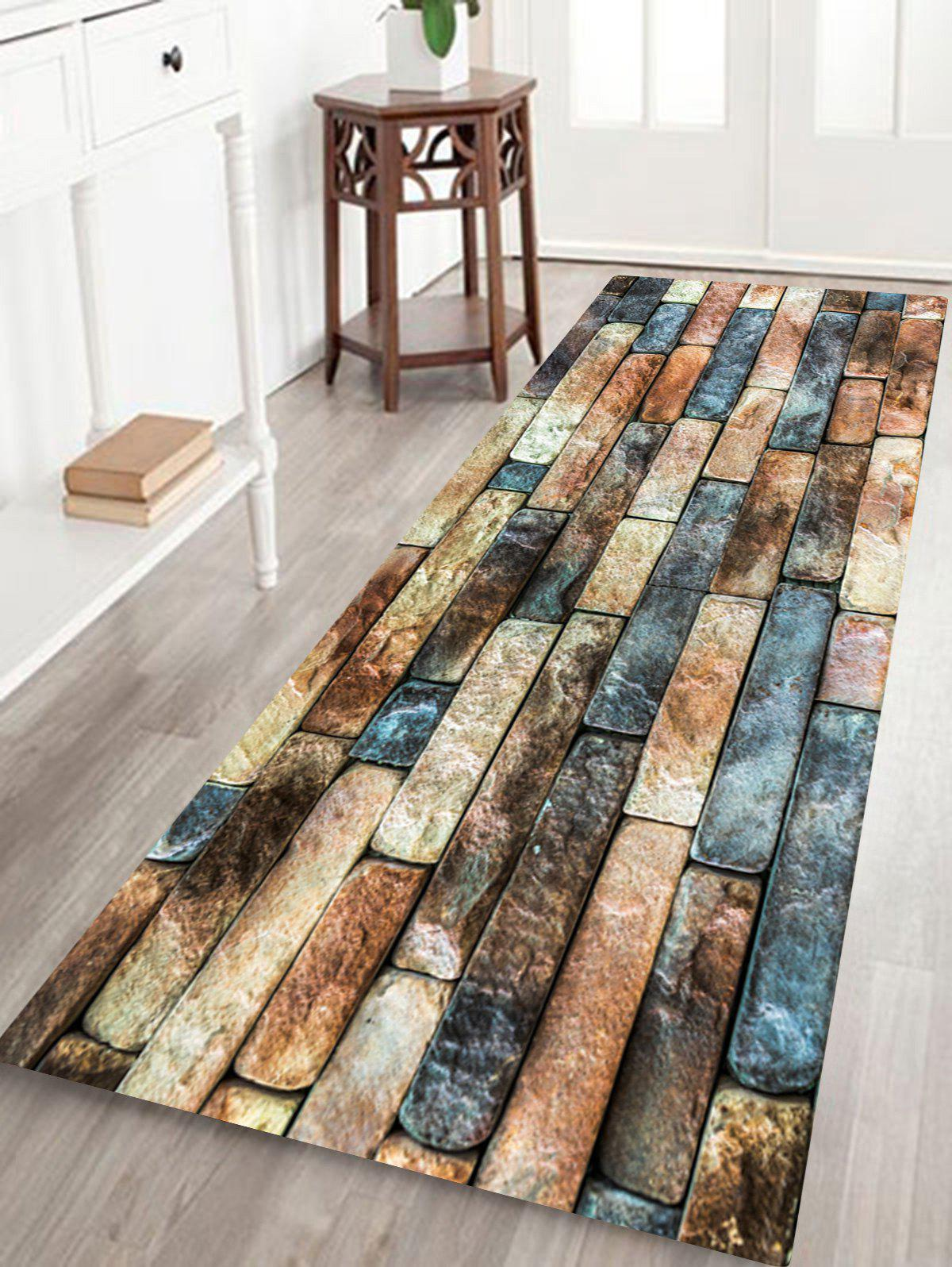 Brick Wall Pattern Floor Area Rug - COLORMIX W16 INCH * L47 INCH