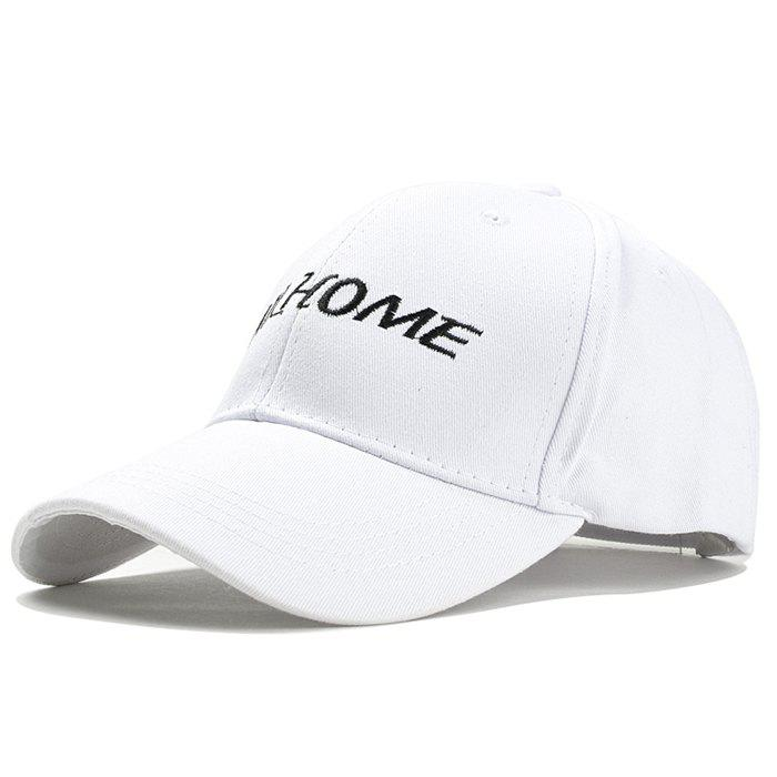 Simple Letter Pattern Embroidery Baseball Cap - WHITE