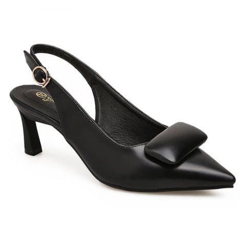 High Heel Slingback Pumps - BLACK 36