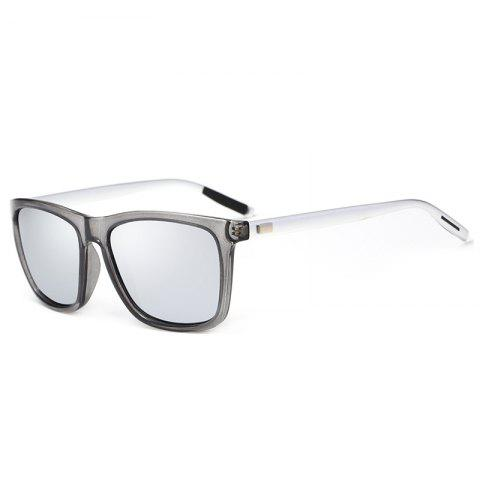 UV Protection Full Frame Polarized Driver Sunglasses - SEQUIN SILVERY WHITE