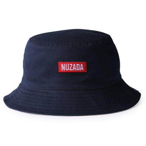 NUZADA Pattern Embroidery Bucket hat - CERULEAN