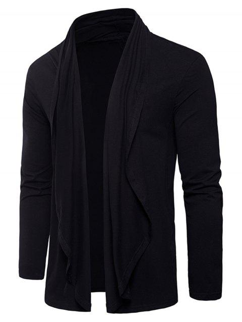 Pure Design Drape Cardigan T-shirt - BLACK 2XL