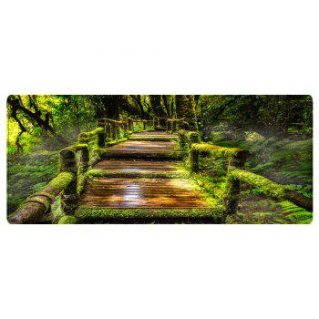 Wooden Path In Forest Pattern Indoor Outdoor Area Rug - GREEN W16 INCH * L47 INCH