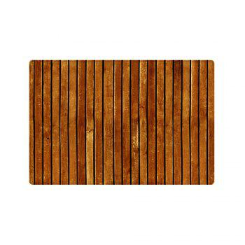 Wooden Floor Pattern Indoor Outdoor Area Rug - BROWN W20 INCH * L31.5 INCH