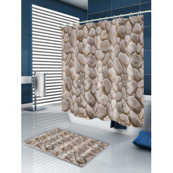 Natural Stone Waterproof Shower Curtain - GRAY W71 INCH * L79 INCH