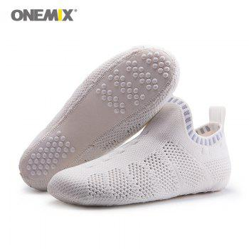 ONEMIX Indoor Slip On Knit Casual Shoes - BLUE / WHITE 42