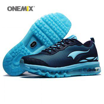 ONEMIX Air Cushion Road Athletic Shoes - SKY BLUE FLOWER 45
