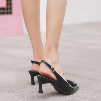 High Heel Slingback Pumps - BLACK 38