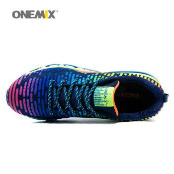 ONEMIX Lace Up Air Cushion Athletic Shoes - COLORFUL 44