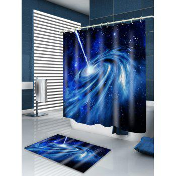 Galaxy Pattern Waterproof Bathroom Curtain - DEEP BLUE W59 INCH * L71 INCH