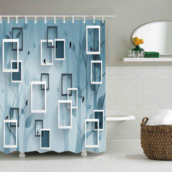 Rahmen Print Fabric Waterproof Shower Curtain - STONE BLUE W71 INCH * L79 INCH